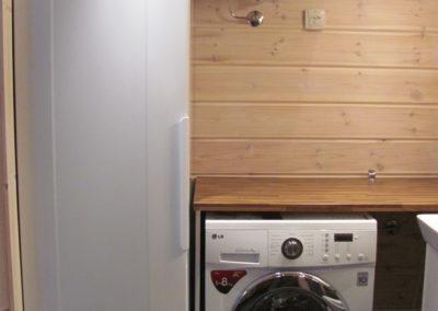 Washing mashine and drying cabinet